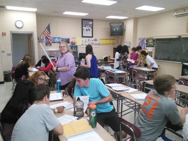Ms. Zepp's class and the Bill of Rights