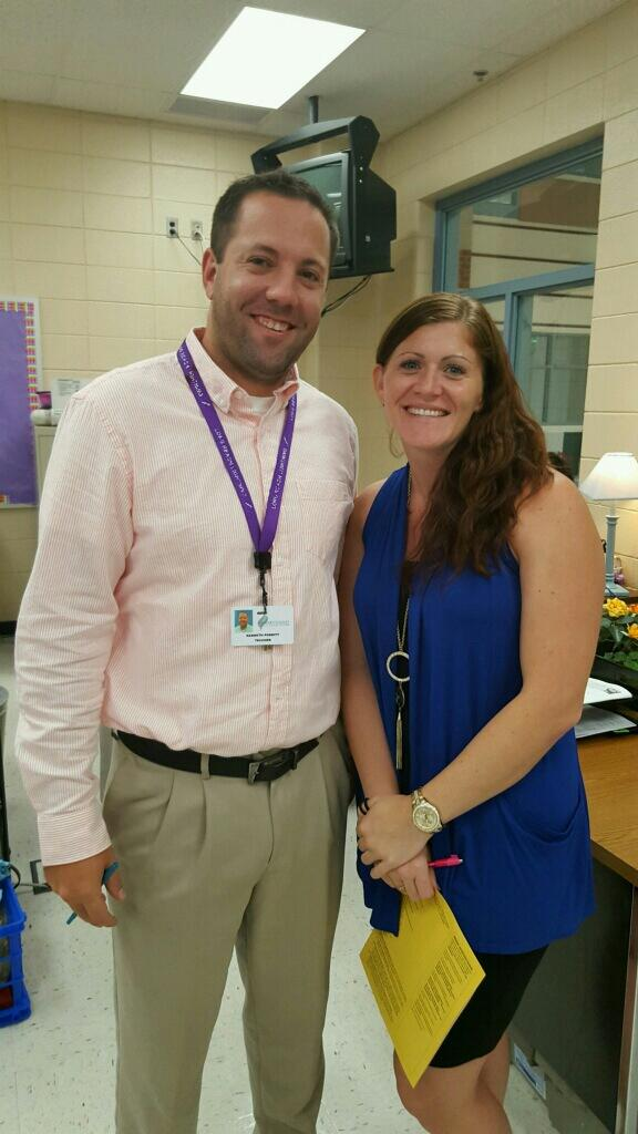 Mr. Porritt and Ms. Hills the Ninth Grade Team Leaders